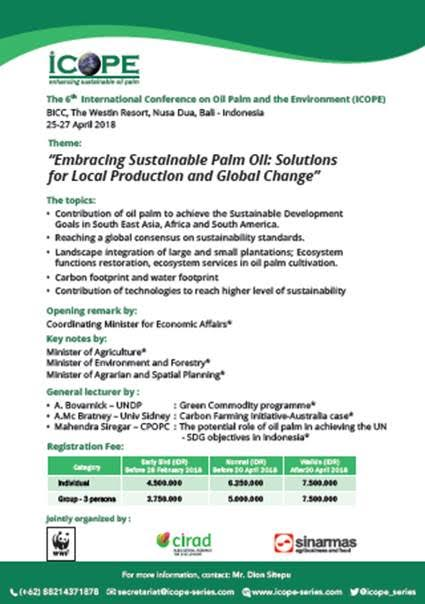 Embracing Sustainable Palm Oil: Solutions for Local Production and Global Change by ICOPE
