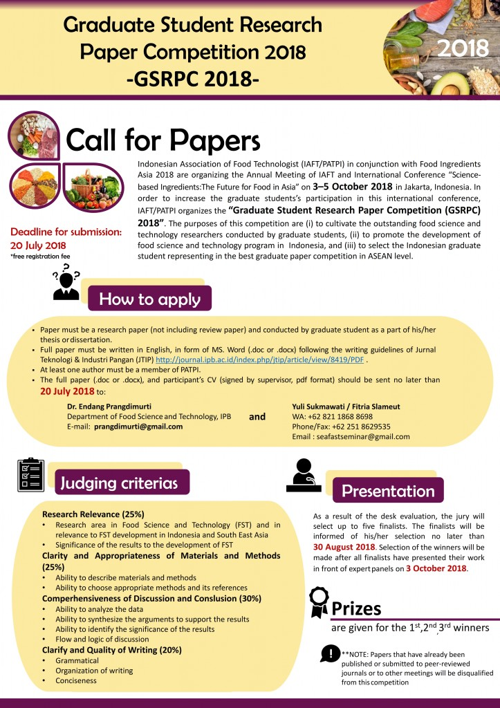 Call For Paper GSRPC 2018