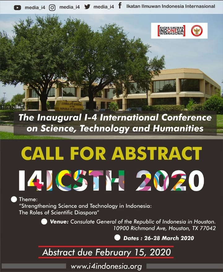 media_i4-The Inaugural I-4 International Conference on Science, Technology and Humanities (I4ICSTH 2020)